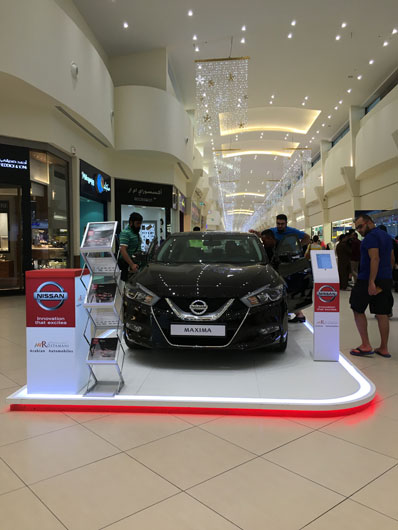 Event Management Company, Brand activations, Nissan Mall Road Show UAE
