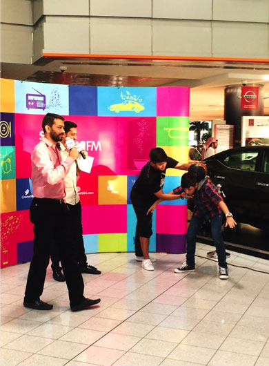 Event planning agency in Dubai, UAE, Nissan Showroom Activation event