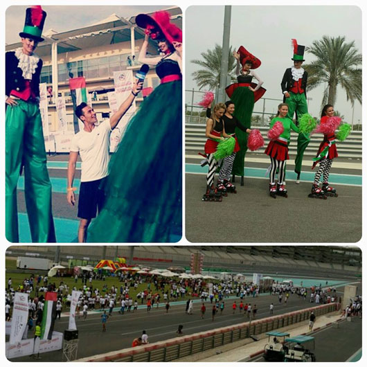 Public events and entertainment agency in Dubai | Zayed Marathon Yas Marina Circuit event